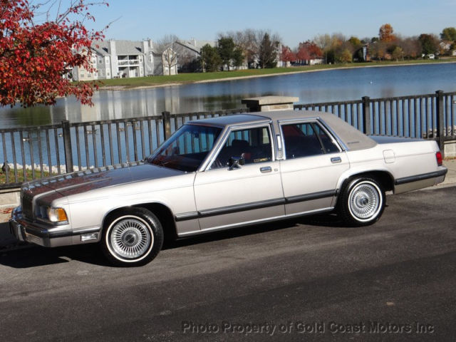 1991 MERCURY GRAND MARQUIS LS RAG TOP ONLY 26264 ACTUAL MILES