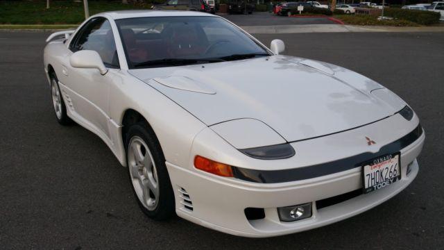 1991 mitsubishi 3000gt vr 4 49 225 miles pearl white v6 cylinder engine 3 0l 18 for sale photos. Black Bedroom Furniture Sets. Home Design Ideas