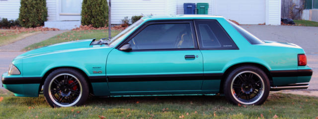1991 Mustang 5 0 Notchback 5spd Bright Calypso Green Showroom Cond 20 000 Miles For Sale Photos