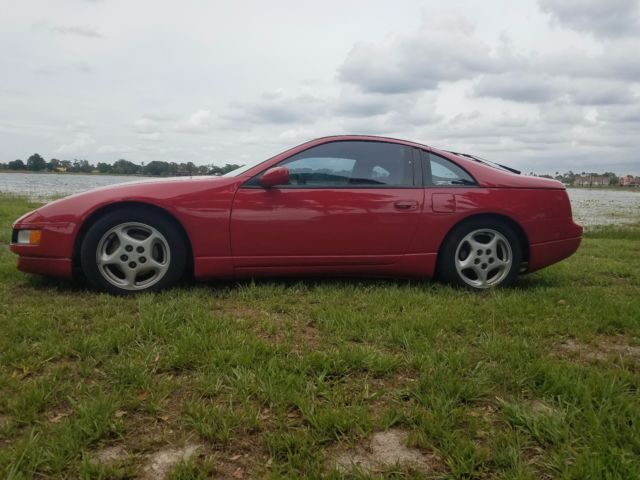 1991 Red Nissan 300ZX Coupe with Gray interior