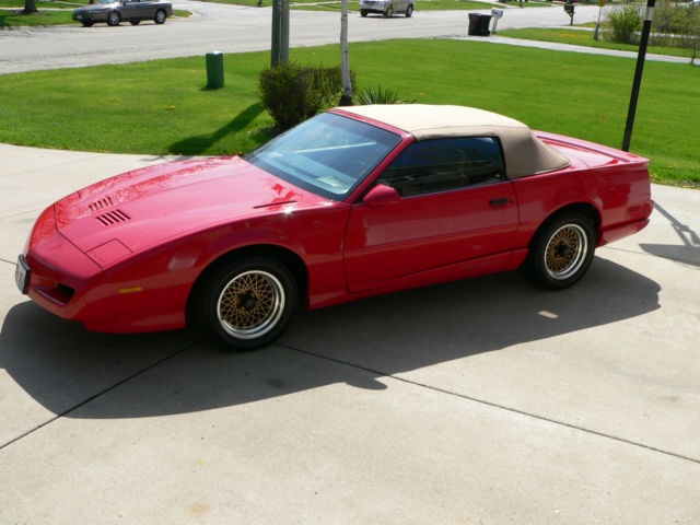 1991 pontiac firebird trans am convertible 26k miles no. Black Bedroom Furniture Sets. Home Design Ideas