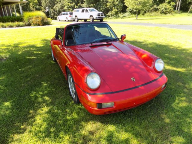 1991 Red Porsche 911 CABRIOLET Convertible with Black interior