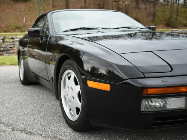 1991 Black Porsche 944 Convertible with Black interior