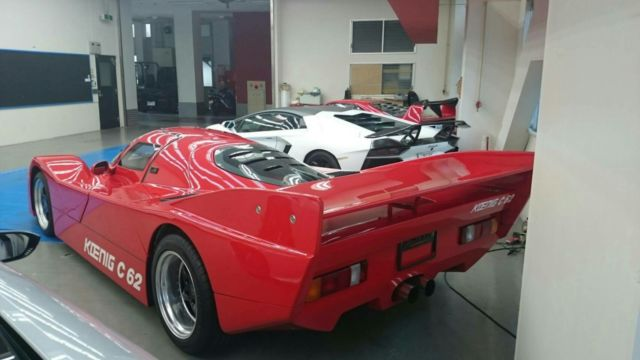 1991 Red Porsche 962 Koenig porsche CP with blue interior