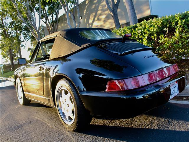 1991 Porsche Carrera 4 Cabriolet 102,400 Miles Black  Balanced High Level Reblt