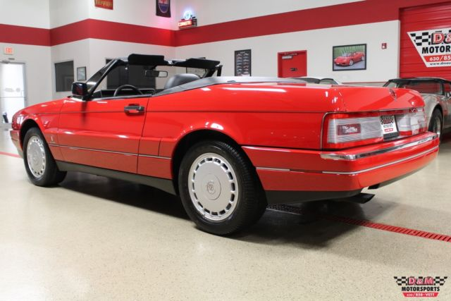 1992 Red Cadillac Allante Convertible with Charcoal interior