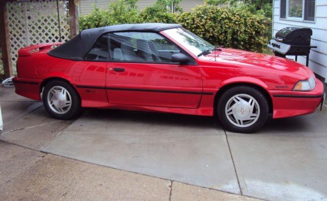 1992 chevrolet cavalier z24 convertible for sale photos technical specifications description topclassiccarsforsale com