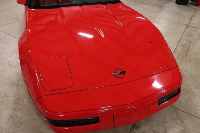 1992 Red Chevrolet Corvette Convertible with Red interior