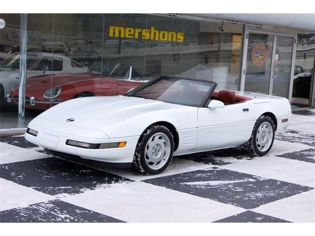 1992 Chevrolet Corvette Convertible White With Red Interior Only 45k Miles For Sale Photos