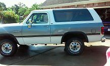 1992 White and Gray Metalic Dodge Ramcharger 2 Door with Gray interior