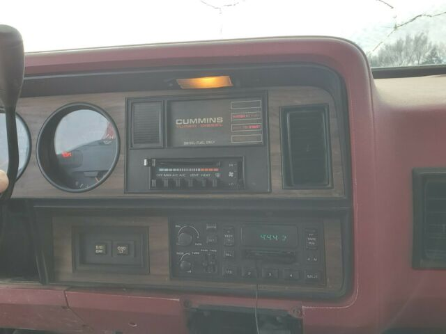 1992 Red Dodge Ramcharger SUV with Red interior
