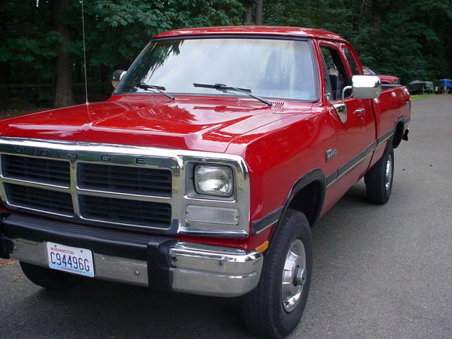 1992 Dodge W250 Clubcab Cummins Diesel 4x4 1991 1993 1989 1990 for sale: photos, technical ...