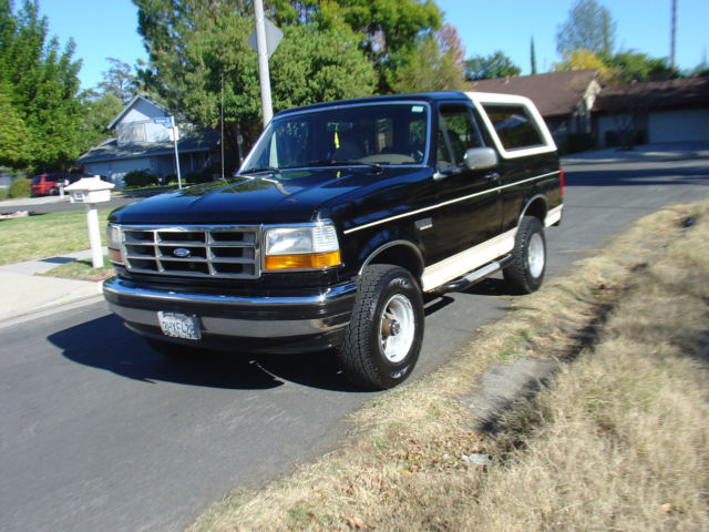 1992 ford bronco black eddie bauer 1993 1994 1995 1996 for sale photos technical. Black Bedroom Furniture Sets. Home Design Ideas