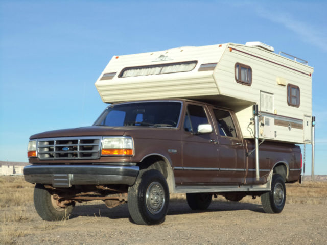 1992 ford f350 xlt 4wd crew cab grampa 39 s truck rv camper. Black Bedroom Furniture Sets. Home Design Ideas