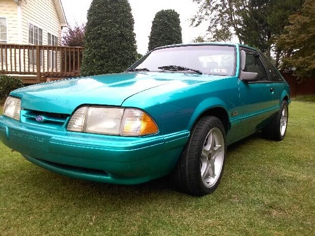 1992 Ford Mustang LX 50 5 spd RARE Bright Calypso Green Blk