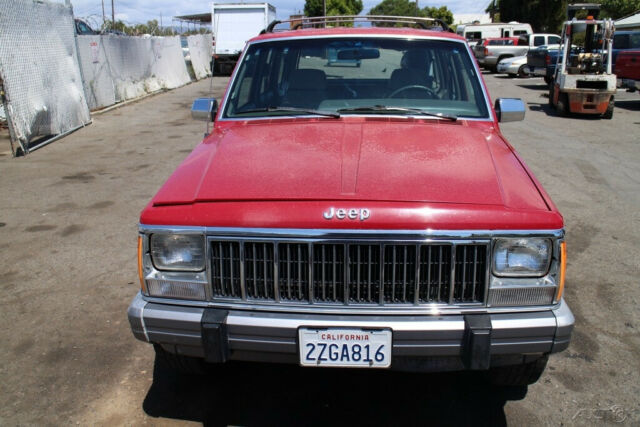 1992 Red Jeep Cherokee 4x4 SUV with Gray interior