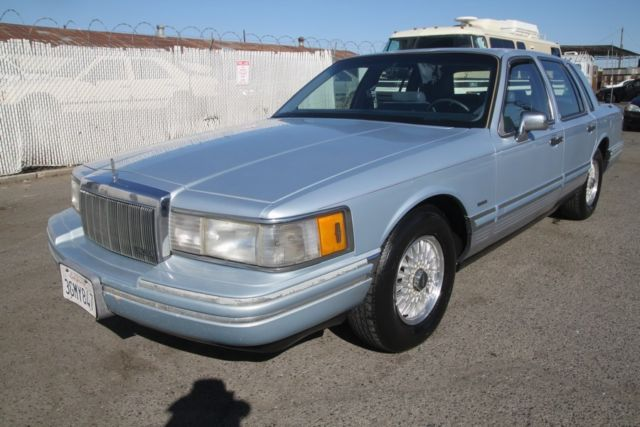 1992 Lincoln Town Car Cartier Automatic 8 Cylinder No Reserve For Sale Photos Technical