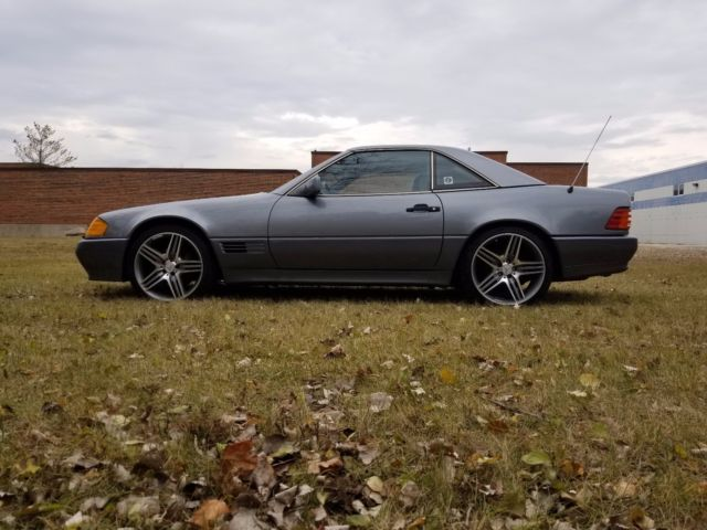 1992 DARK GRAY Mercedes-Benz SL-Class Convertible with Gray interior