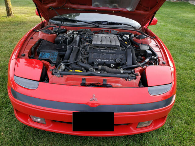 1992 Red Mitsubishi 3000GT 3000 GT VR-4 Coupe with Black interior
