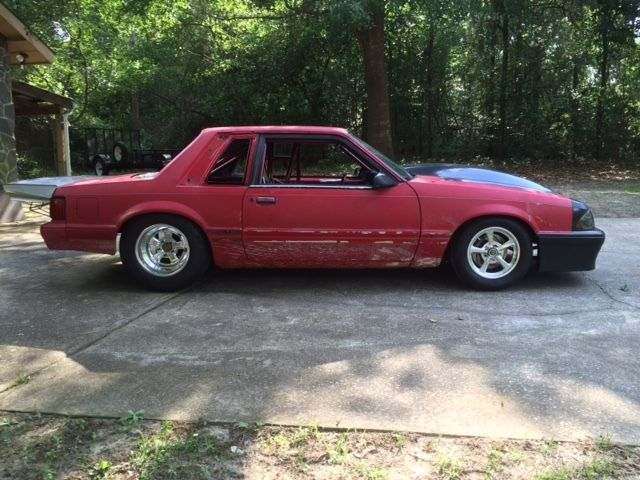 1992 Mustang Coupe Drag Radial New Build 25 5 Roller For
