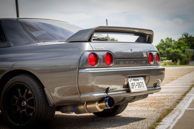 1992 Gray Nissan GT-R Coupe with Gray interior