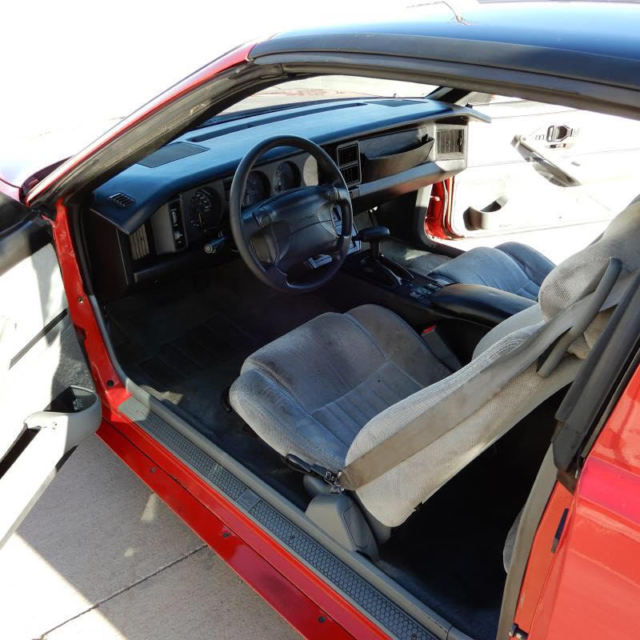 1992 Red Pontiac Firebird Coupe with Gray interior