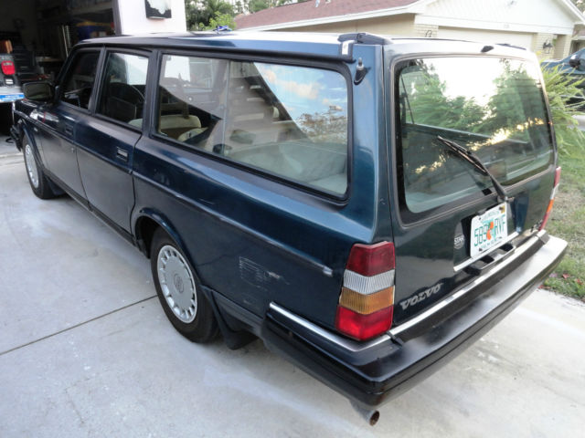 1992 Volvo 240 Station Wagon Teal Good running and driving car. for sale: photos, technical ...