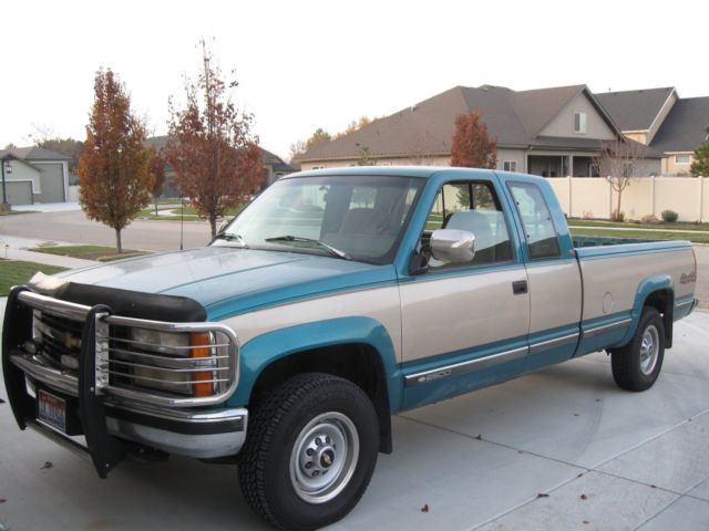 1993 4wd Chevy Ext Cab Fltsde Pickup 454 Engine 93895 Mls
