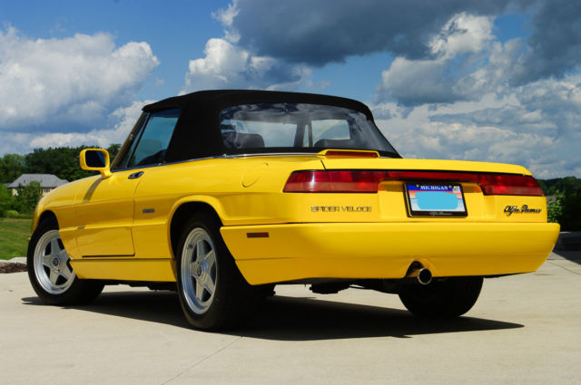 Alfa Romeo Spider Veloce Fly Yellow Nice For Sale Photos - 1993 alfa romeo spider for sale