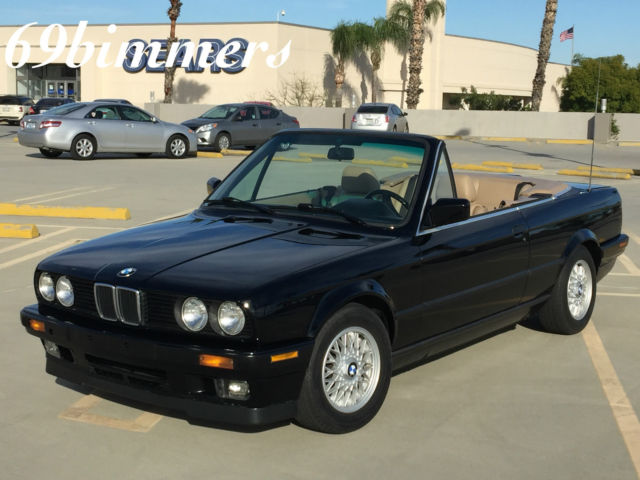 1993 BMW 325i Convertible CLEAN E30 Videos Photos 5spd Black