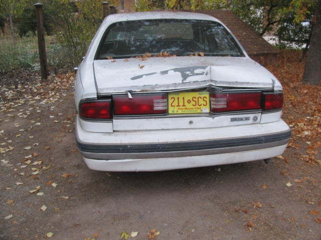 Buick Lesabre Th Anniversary Edition Dyna Ride Salvage Title on 1989 Buick Lesabre T Type White