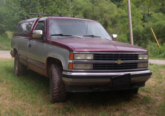 1993 Chevy 1500 Pickup W Cap Tow Package Great Work Truck For