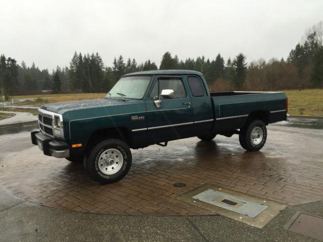 1993 dodge cummins diesel 4x4 extended cab longbox stock for Dodge 12 valve cummins motor for sale