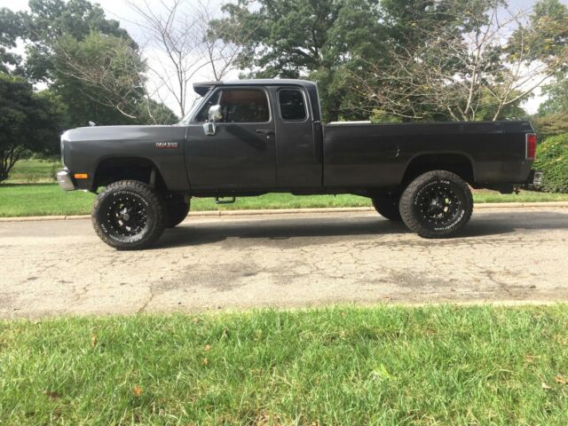 1993 CHARCOAL GRAY Dodge Ram 2500 Extended Cab Extended Cab Pickup with Tan interior