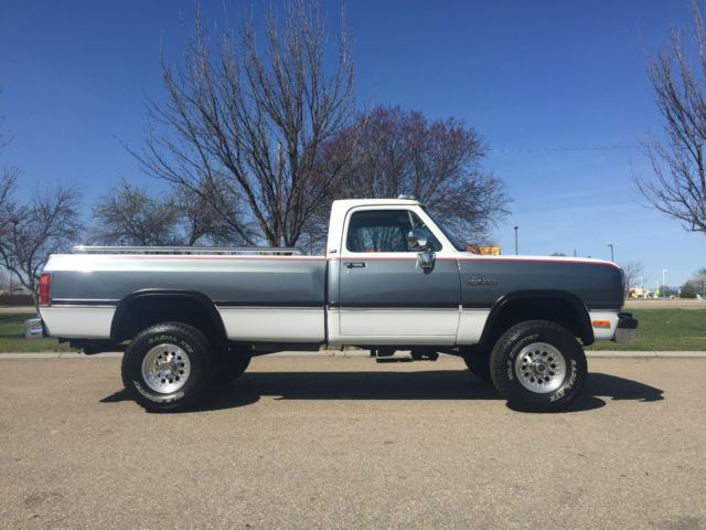 1993 dodge ram 2500 4x4 cummins turbo diesel intercooled with only miles for sale photos. Black Bedroom Furniture Sets. Home Design Ideas