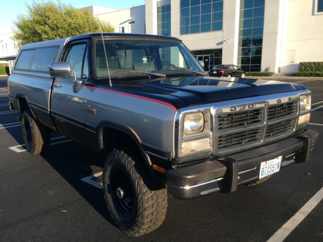 1993 dodge ram w250 cummins turbo diesel 4x4 auto west coast truck for sale photos. Black Bedroom Furniture Sets. Home Design Ideas