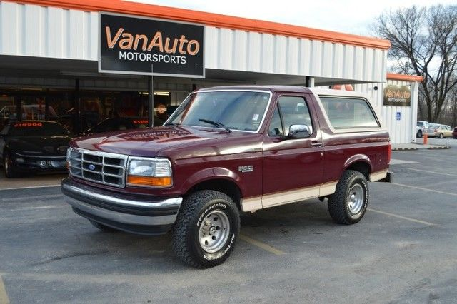 1993 Ford Bronco Eddie Bauer 4X4 Removable Rear Hard Top