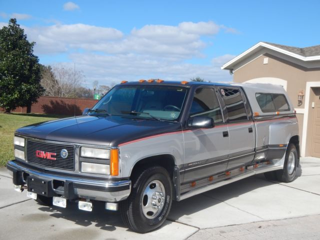 1993 gmc 3500 crew cab 6 5 turbo diesel dually one owner. Black Bedroom Furniture Sets. Home Design Ideas