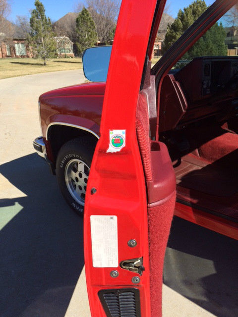 1993 Fire Red GMC Sierra 1500 Sierra Pickup with Red interior