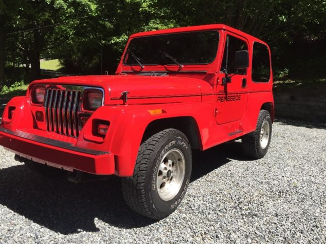 1993 jeep wrangler yj renegade 98k original miles 3 tops and doors for sale photos technical. Black Bedroom Furniture Sets. Home Design Ideas