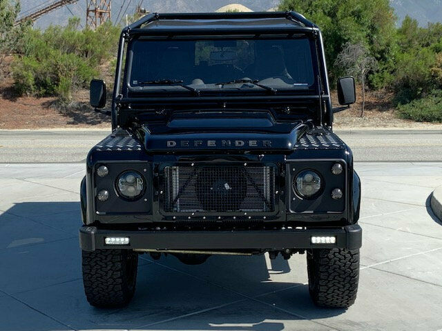 1993 Black Land Rover Defender 5dr Wagon Wagon with Black interior