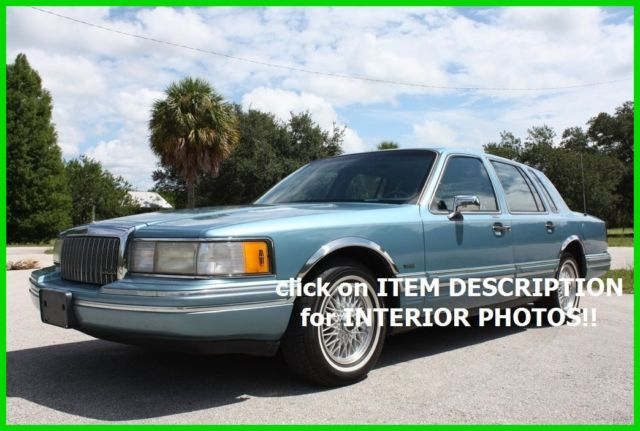 1993 Lincoln Town Car EXECUTIVE IMMACULATE FLORIDA NO RESERVE!!
