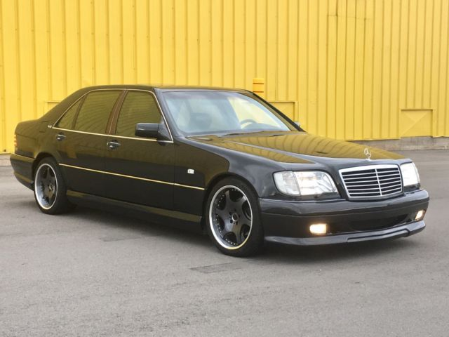 1993 DARK GRAY Mercedes-Benz S-Class S500 SEDAN with BLACK interior