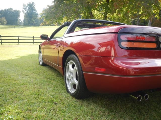 1993 Cherry Red Pearl Nissan 300ZX Convertible with Black interior