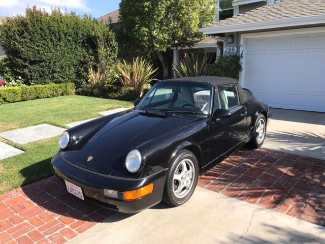 1993 Porsche 911 Carrera 2 Cabriolet Black For Sale Photos