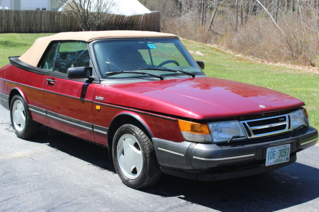 1993 Saab 900 Turbo Convertible 2 Door 0l