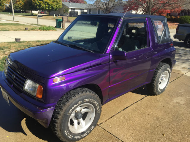 1993 Suzuki Sidekick Custom Purple Paint 4x4