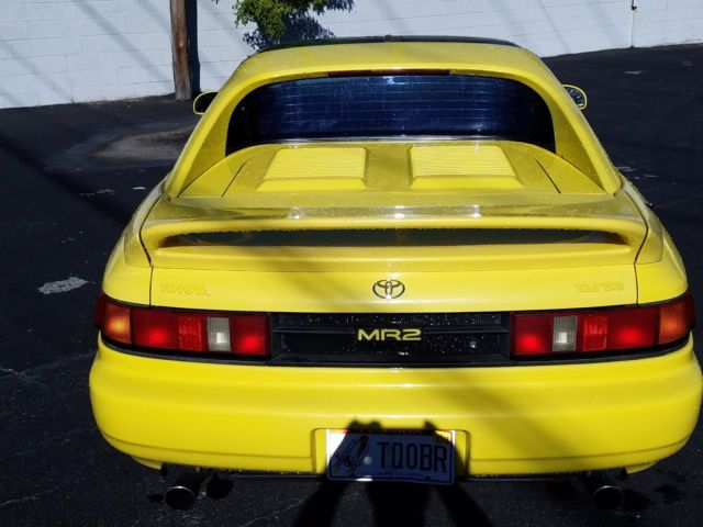 1993 Yellow Toyota MR2 with Black interior