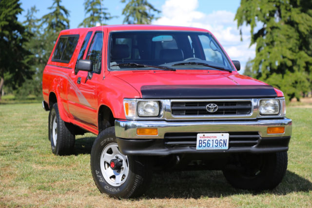 1993 toyota pickup 4x4 extended cab pickup 22re low miles rareexcellent conditio for sale. Black Bedroom Furniture Sets. Home Design Ideas