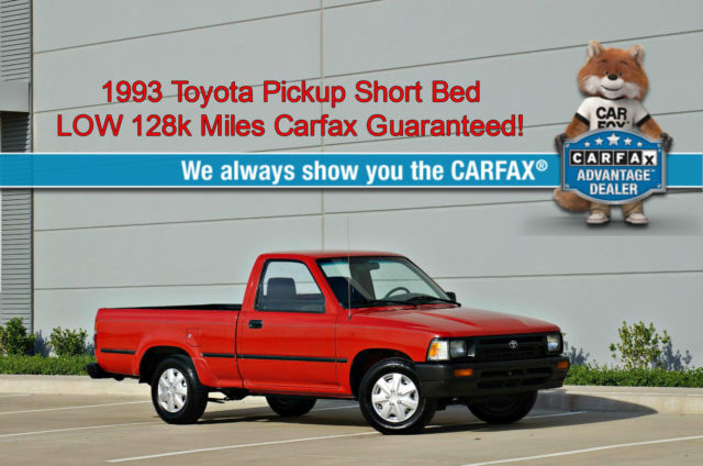 1993 Toyota Tacoma Pickup Short Bed * 128k Miles * 22RE NO RESERVE